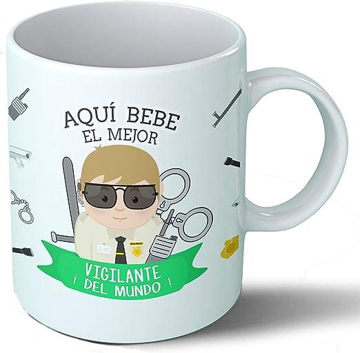 Planetacase Taza Desayuno Aquí Bebe el Mejor Vigilante del Mundo ...