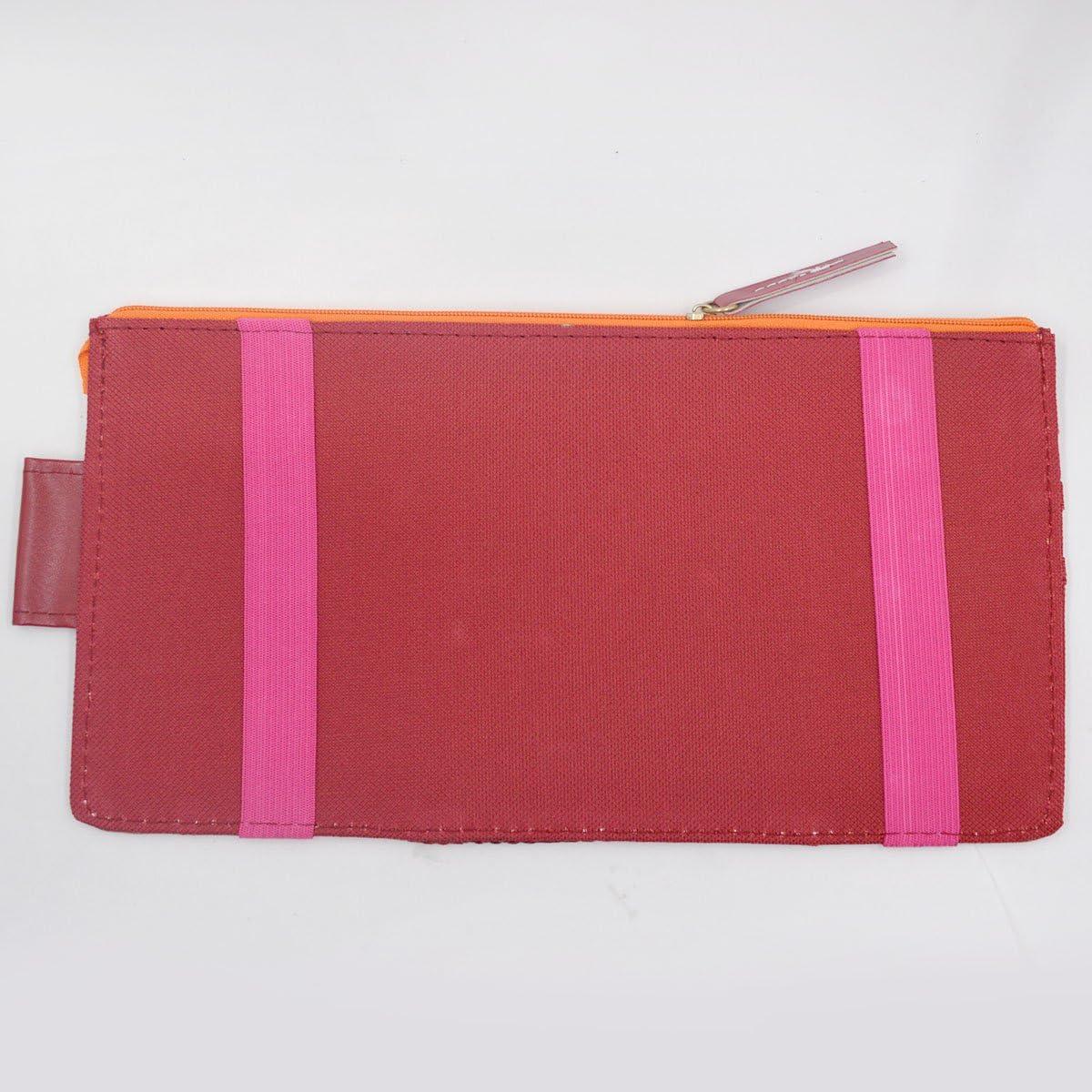 Mily Multi-Purpose Car Visor Organizer Sun Shade CD Holder Card Storage Pouch Bag Wine Red