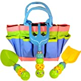"Kids Garden Tool Set with Tote , Tools Handles Made As "" Cute Bugs """
