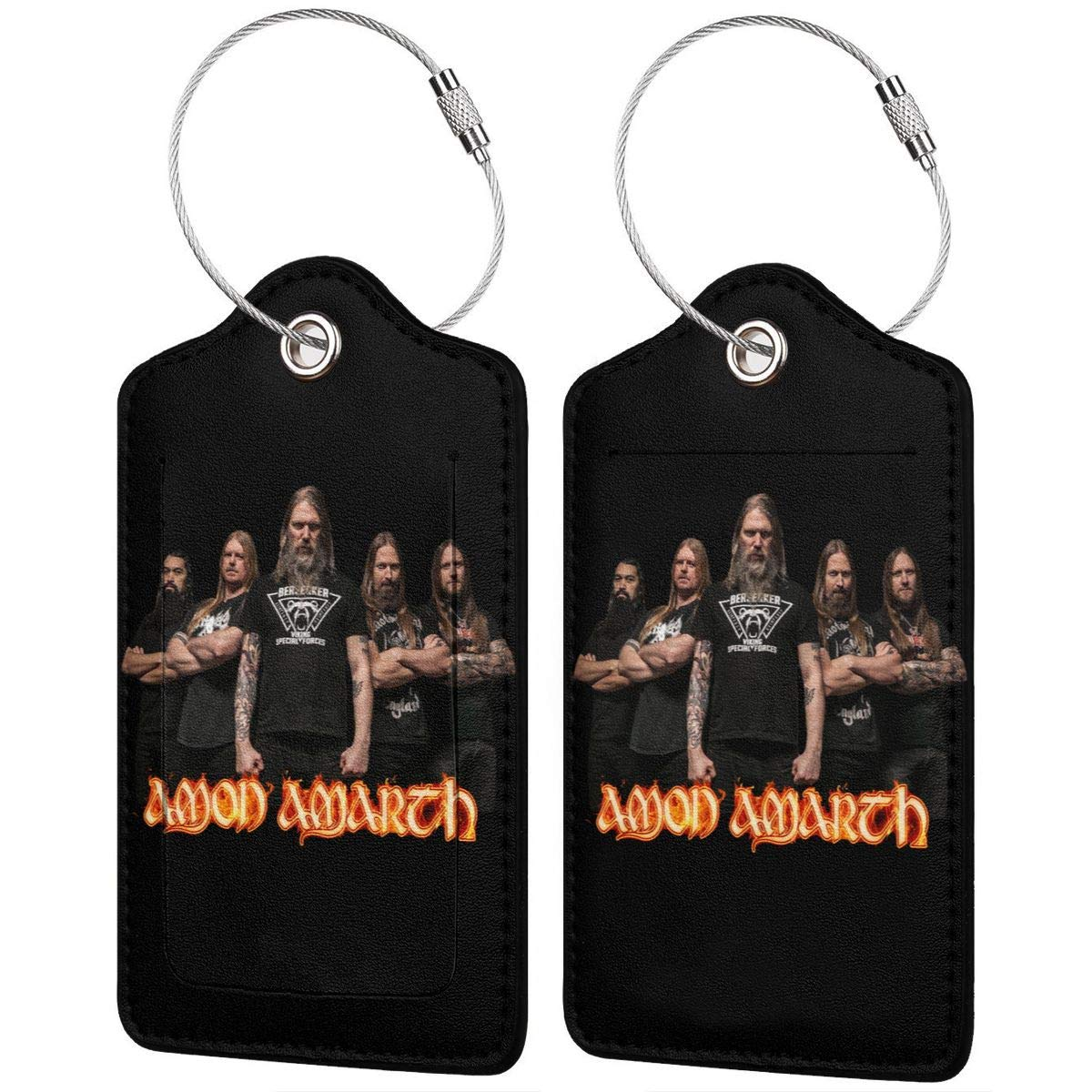 LIKUNMING Amon Amarth Travel Luggage Tags Travel Suitcase Bag Labels Checked Baggage Tags