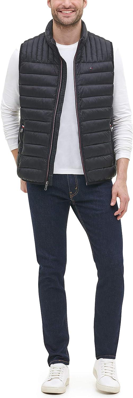 Tommy Hilfiger mens Lightweight Down Quilted Puffer Vest Down Vest