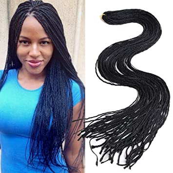 Amazoncom 10 Packs Pre Looped Thin Box Braid Crochet Twisted Hair