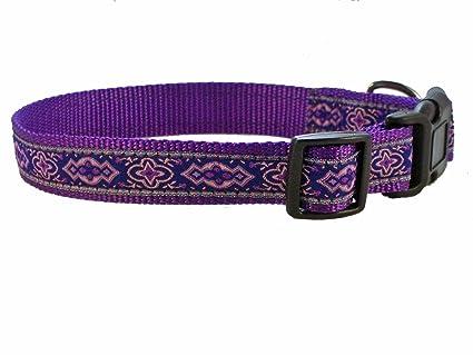 01cf3432ddbc Amazon.com   Medium Dog Collar by Sandia Pet Products - Violeta on ...