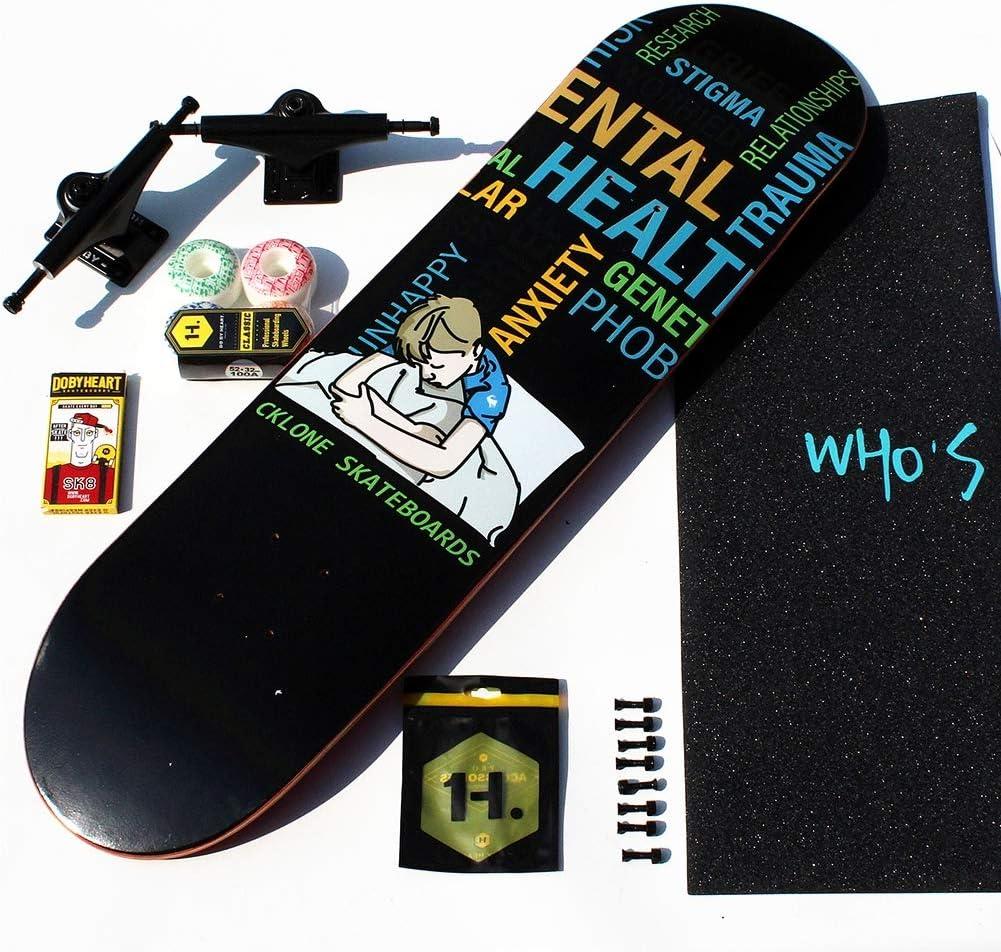 NENGGE Professionale Skateboard Classico Principianti Skateboard Concave Double Kick dAcero Legno Skateboards per Adulti Ragazzi Ragazze Bambini,Cat
