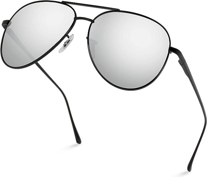 Mens Or Ladies Retro Mirror Pilot Sunglasses Shades Classic Vintage Metal Silver