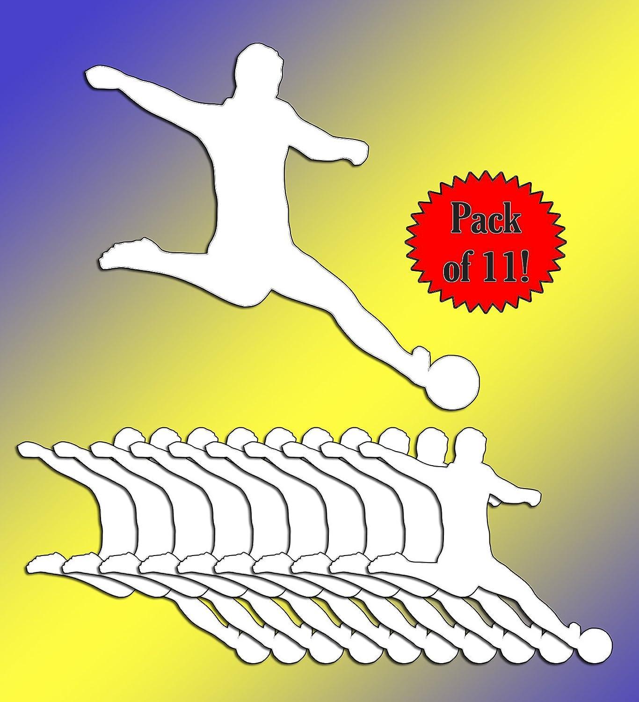   5.5 Inch 11 Pack Vincit Veritas Soccer Decal Soccer Sticker White Vinyl Decal Sticker TEAM PACK Soccer Mom Soccer Coach Gifts Soccer Accessories Soccer Gifts Soccer Stuff D024-WTP OGO