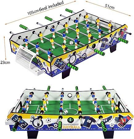 SXJC Profesional Mini Futbolín De Madera De Mesa Portátil Foosball Juego De Tablero De MDF Tablero para Niños A Partir De 7 Años: Amazon.es: Deportes y aire libre