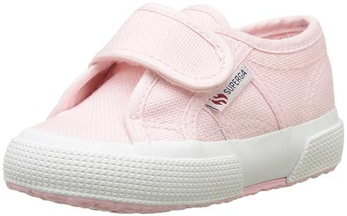 Superga S001FJ0, Piatto Unisex Bambini, Rosa (Rosa (Pink 915)), 24 EU