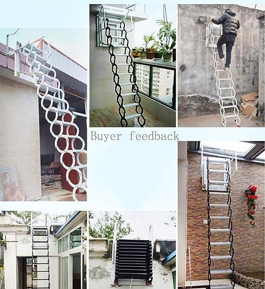 Aleación de aluminio Inicio Pabellón Escalera/Hogar Escalera plegable Paso Loft Escalera abatible Bisagra 1M-4M (Altura vertical 1.7M): Amazon.es: Bricolaje y herramientas