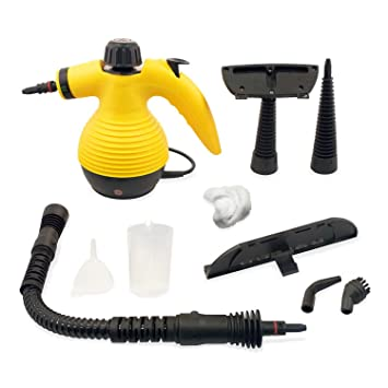 Gentil Handheld Portable Steam Cleaner With 9 Accessories   1000W   Pisces