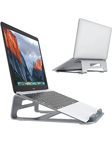 Laptop Stand, SLYPNOS Aluminum Cooling MacBook Stand, Portable Tilted Elevated Laptop Riser with Non