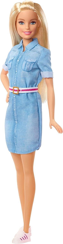 Barbie Dreamhouse Adventure muñeca rubia con vestido vaquero y accesorios, regalo para niñas y niños 3-9 años (Mattel GHR58) , color/modelo surtido