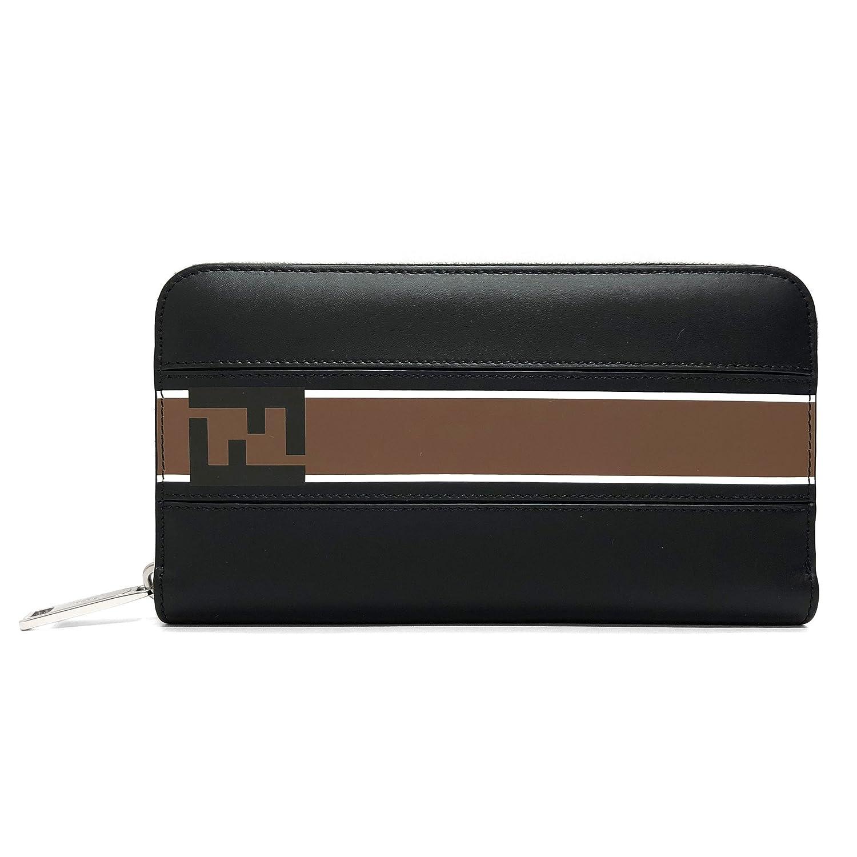 [フェンディ]FENDI 財布 メンズ 7M0210 A1R2 F0X93 ラウンドファスナー長財布 ブラック ブラウン [並行輸入品] B07CZVH5XL