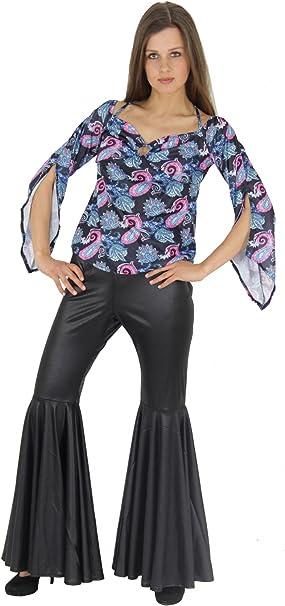 FOXXEO 60s 70s Hippie Disfraz para Damas Pantalones de Luces de ...