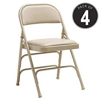 Phenomenal All Steel Vinyl Padded Folding Chair Color Neutral Amazon Download Free Architecture Designs Itiscsunscenecom