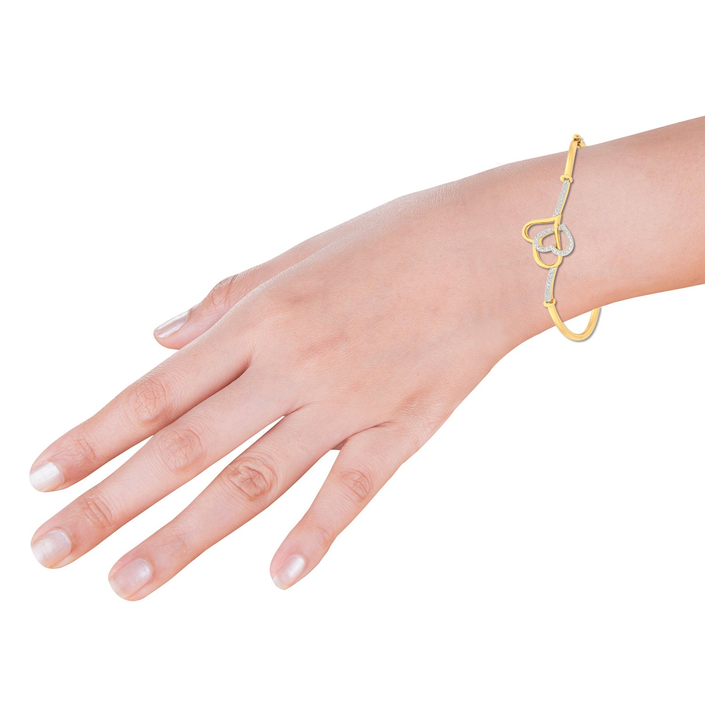 Buy PC Jeweller The Cerian Heart 18KT Yellow Gold & Diamond Bracelet ...
