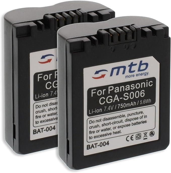 2x Akku Kompatibel Mit Panasonic Cga Kamera
