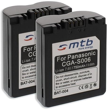 2x Batteria CGA/CGR-S006, DMW-BMA7 per Panasonic Lumix DMC-FZ7, FZ8, FZ18,  FZ28