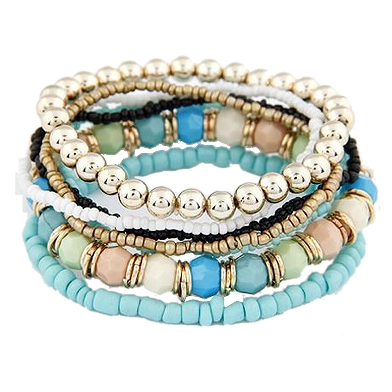 Boho 7 Piece Bracelet Set on s...