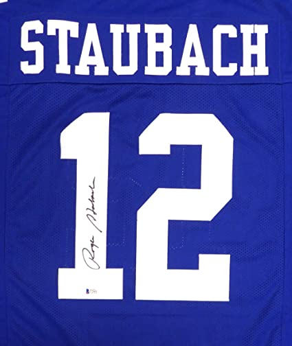e112cf9461d Dallas Cowboys Roger Staubach Autographed Blue Jersey Beckett BAS at ...