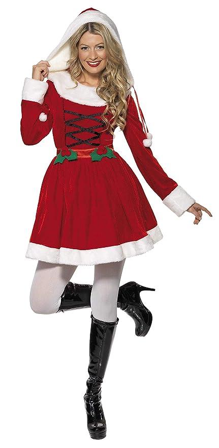Smiffys - Rojo señorita traje de Santa con el vestido (33597M)