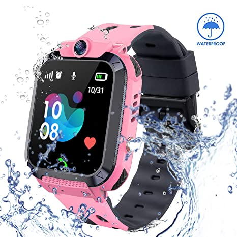 zqtech Smart Watch for Kids GPS Tracker - IP67 Waterproof Smartwatches with SOS Voice Chat Camera Alarm Clock Two Way Calling Digital Wrist Watch ...