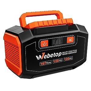 Webetop 167Wh AC出力150W ポータブル電源