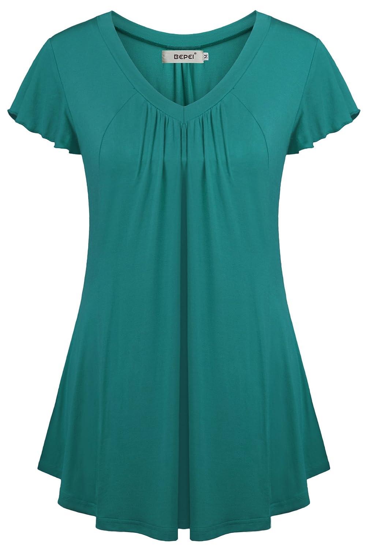 b6e4000ec11 Chinabrands.com: Dropshipping & Wholesale cheap BEPEI Womens Summer Tunic  Tops for Leggings Short Sleeves Fl online.