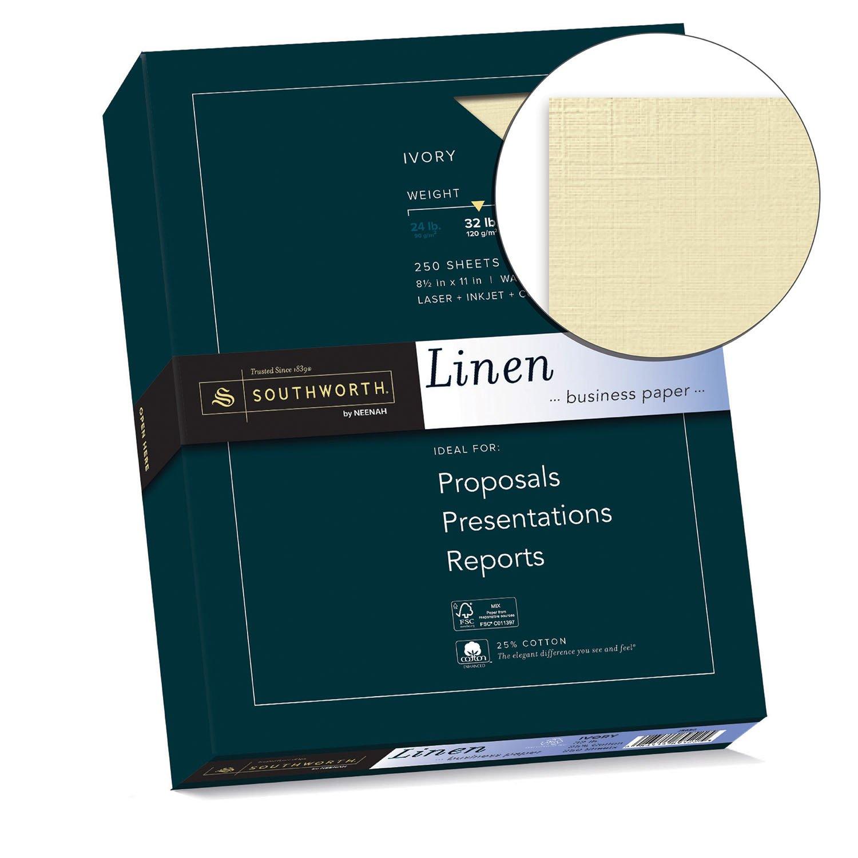 amazon com southworth linen business paper ivory 32 pounds