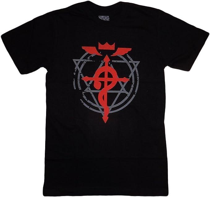 Amazon Fullmetal Alchemist Brotherhood Flamel Cross T Shirt