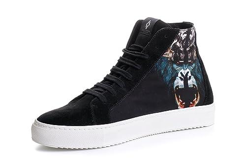 ab9e4a4eab1c2 MARCELO BURLON Sneakers Uomo Scarpe Moreno Tessuto Nero  CMIA002F150071021088 (39.5.) Amazon.it Scarpe e borse ...