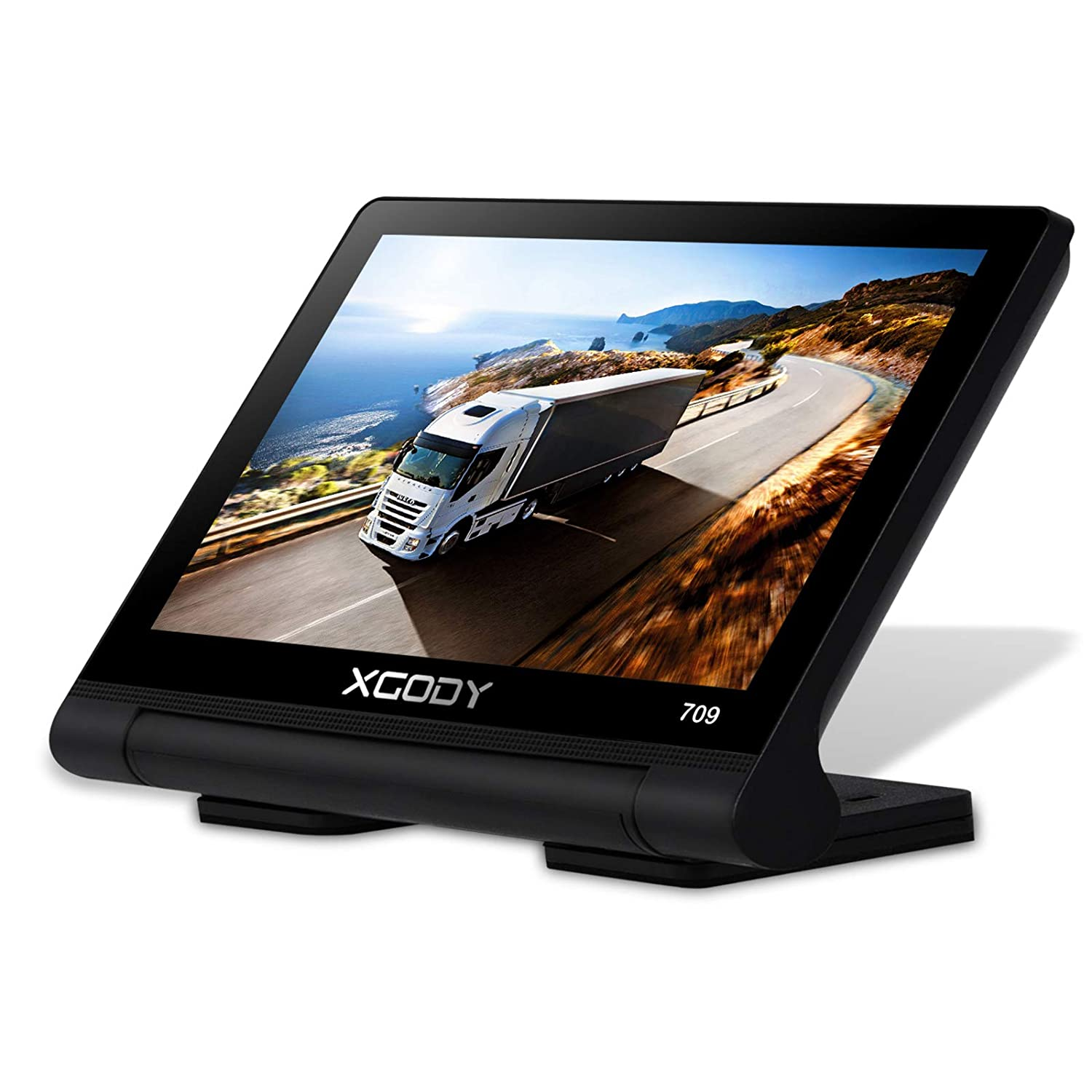 Xgody Portable Car Truckers GPS Sat Nav 709BT Navigation System 7 Inch Capacitive Touch Screen 8GB ROM 256 RAM Support Free Lifetime Maps for Canada/USA Updates Shenzhen Xin Sheng Shang Technology Co. Ltd 709 with Bt