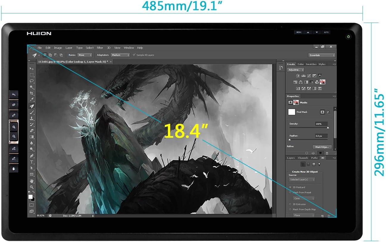 HUION GT-185 Tableta Gráfica con Pantalla TFT, 2048 Niveles ...