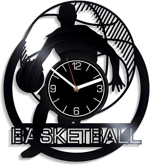 Reloj de pared de vinilo de baloncesto Reloj de pared de ...