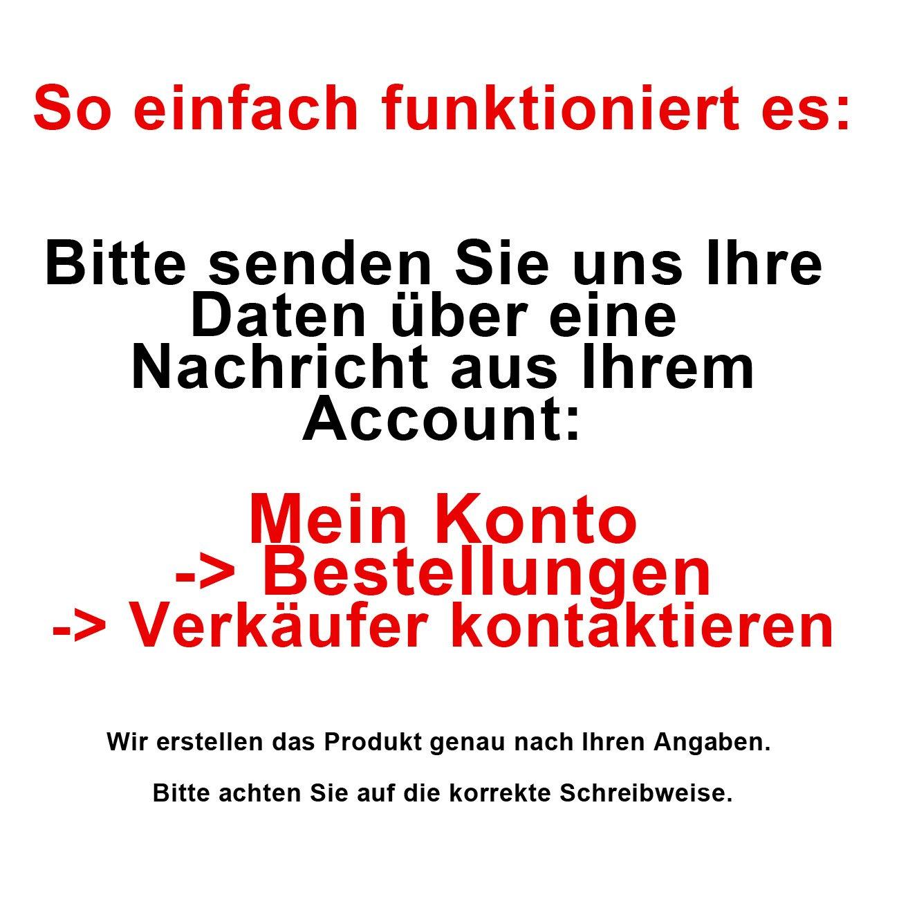 Skater mit Wunschname Striefchen/® Trinkflasche Motiv