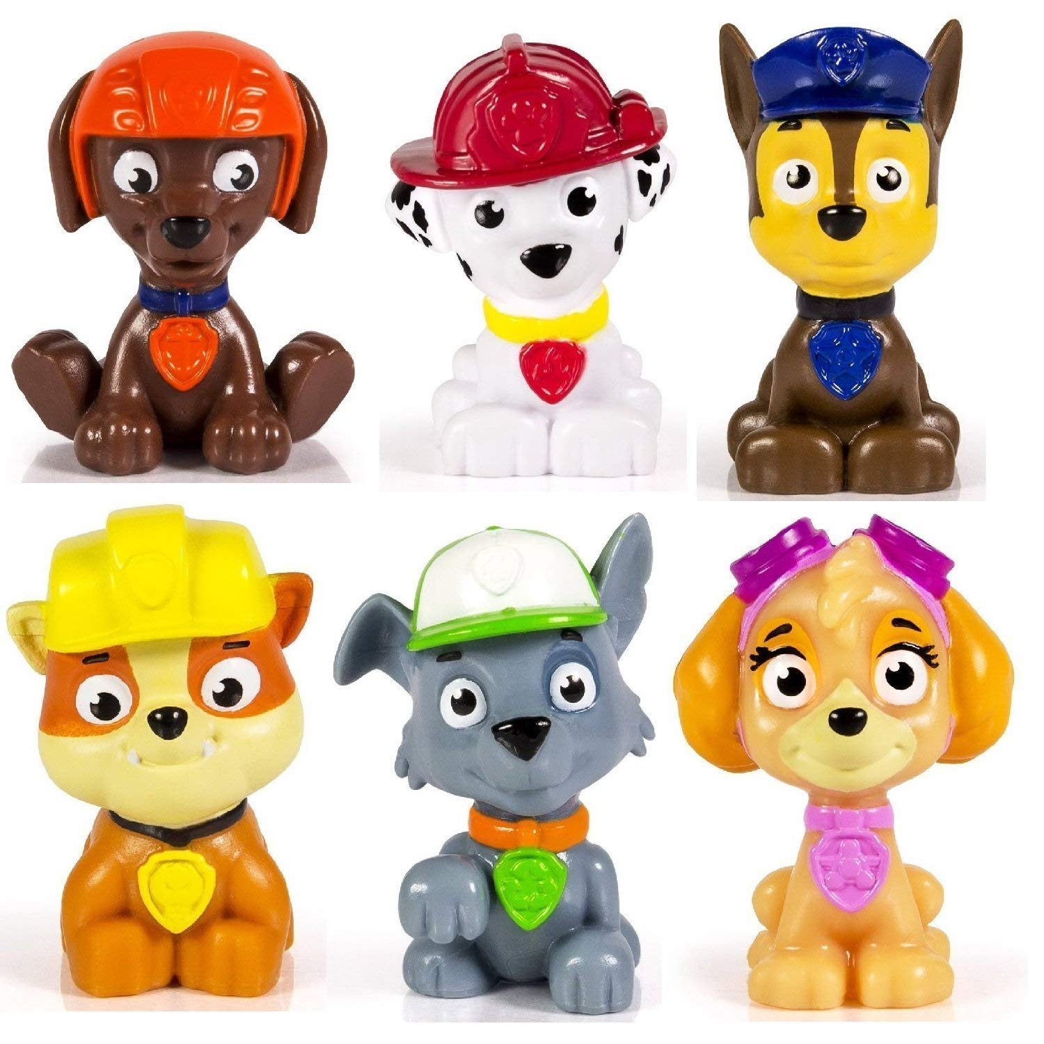 e999bd0d3ab Amazon.com: Spin Master Paw Patrol Figure Set 6 Piece: Toys & Games