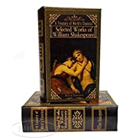 William Shakespeare Romeo and Juliet Book Box Secret Storage Stash Box Faux Leather Over Wood
