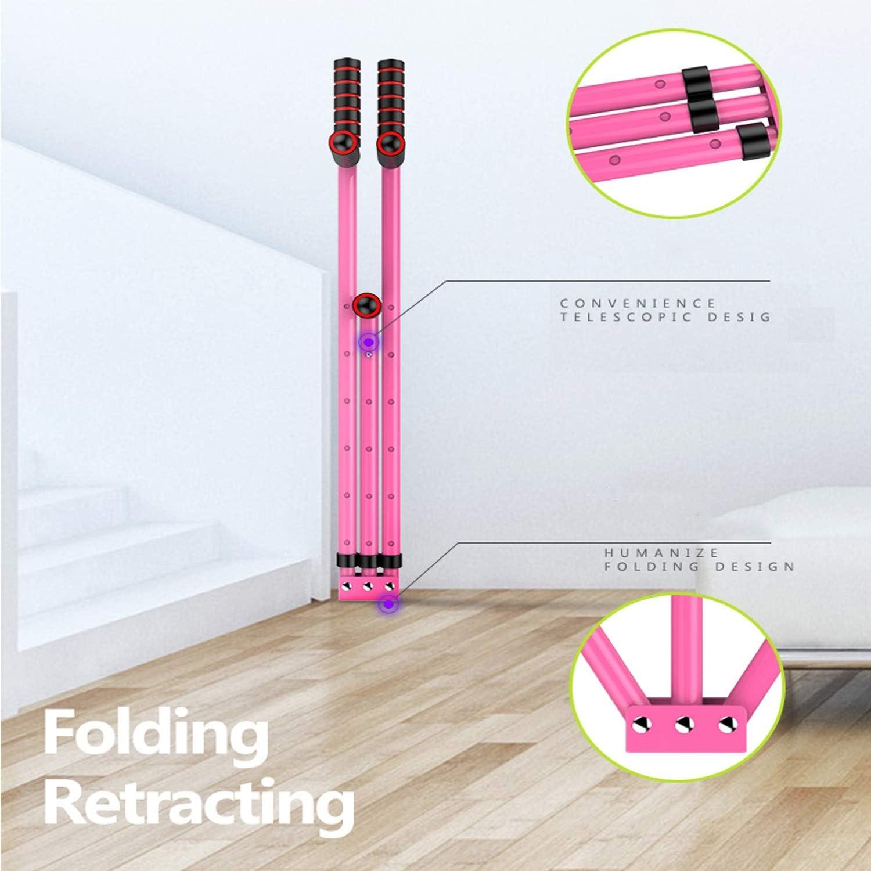 CAJOLG Beinspreizer aus Stahl Schlagpolster Beinspreizer Metall Bein trainingsger/ät,Pink,B