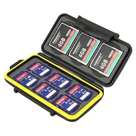 JJC MC-SD6CF3 Rugged Water-Resistant Memory Card Case (Black) <span at amazon