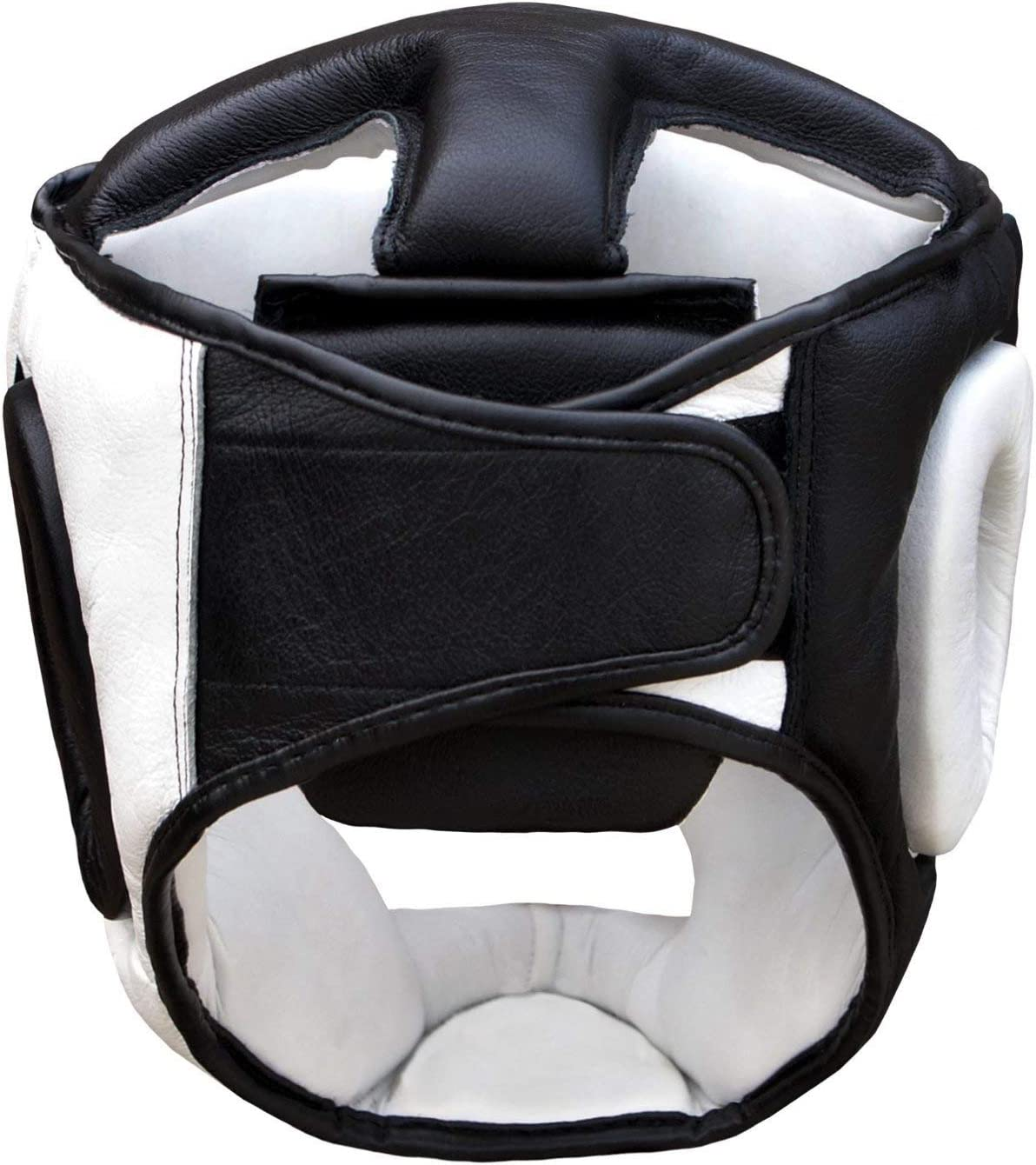 Protection de Cheek Real Leather Coiffe Head Guard Protector Boxe Casque MMA Training Pro Full Face