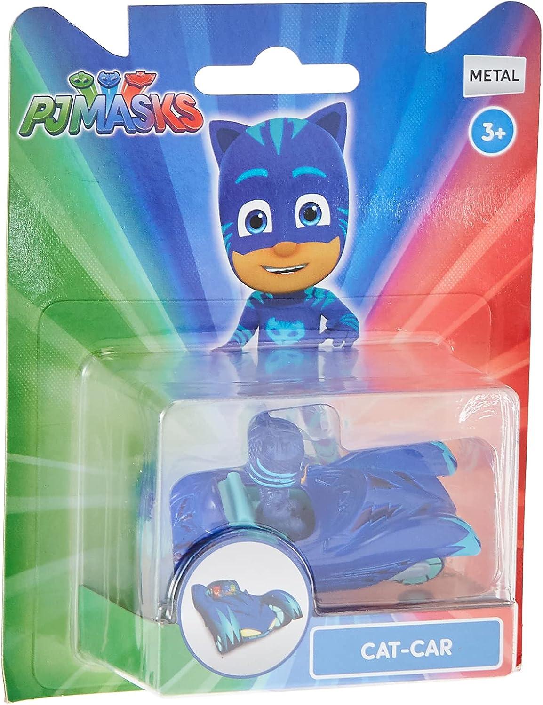Dickie Toys PJ Masks - Coche de Gato de Metal, Rueda Libre, 7 cm, a Partir de 3 años