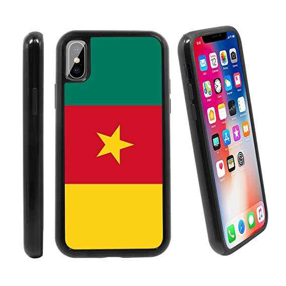 d806ebe91c188 Amazon.com   Flag of Cameroon  for Apple iPhone X iPhone 10 (2017 ...