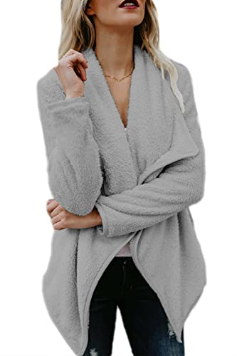 La Mujer Invierno Elegante Casual Frente Abierto Gruesas Gabardinas Abrigos