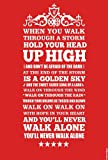 You Will Never Walk Alone - Liverpool - Typographic Poster