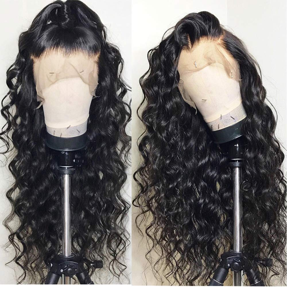 Formal hairLoose Curly Wave Full Lace Human Hair Wigs-Glueless 130% Density Brazilian Virgin Remy Wigs with Baby Hair For Black Woman 22 inch, Natural Color by Formal Hair (Image #5)