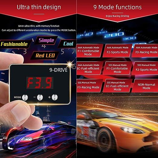 GREEN 9 Drive 9-Mode Throttle Controller Pedal Accelerator ...