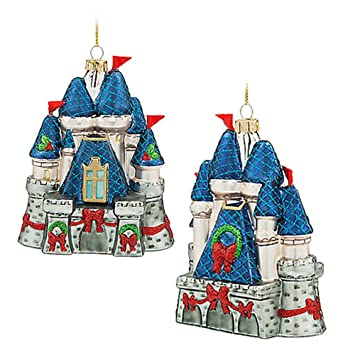official walt disney castle christmas tree decoration