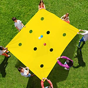 Sonyabecca Hole Tarp Team Building Exercise Activities Games Teamwork Group Learning Fun Playing 84''Lx55''W(Other Size:98''Lx71''W)