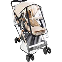 CharmCollection Universal Rain Cover for Stroller Weather Shield for Pushchair, Buggy and Pram Easy to Install Pushchair…