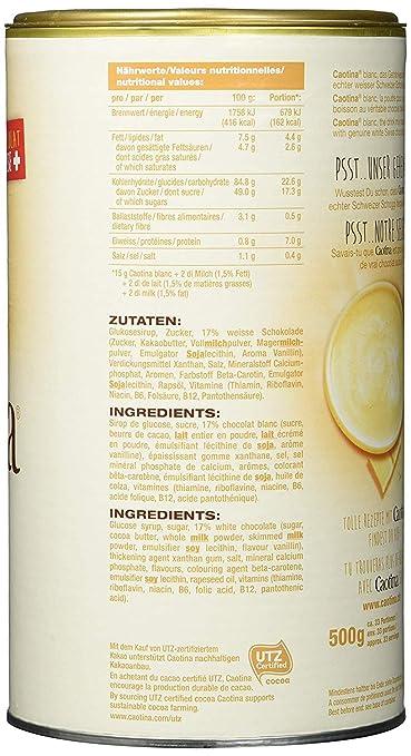 Caotina Blanc lata de chocolate blanco 500g, paquete de 6 (6 x 500 g): Amazon.es: Alimentación y bebidas